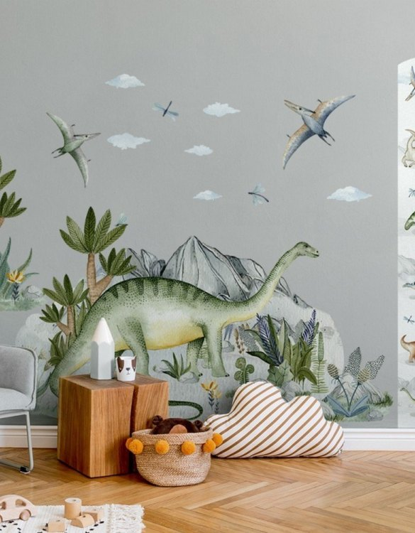 A beautiful scene for children's rooms and nurseries, the Brontosaurus Female Children's Wall Sticker is the perfect addition to any empty space (like walls or furniture). Time to travel back to the time when dinosaurs ruled the Earth!