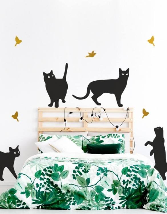 A beautiful scene for children's rooms and nurseries, the Cats Children's Wall Sticker is the perfect addition to any empty space (like walls or furniture). These wall stickers provide a flexible and cost-effective way to decorate your home.