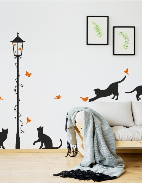 A beautiful scene for children's rooms and nurseries, the Cats with a Lamp Children's Wall Sticker is the perfect addition to any empty space (like walls or furniture). These wall stickers provide a flexible and cost-effective way to decorate your home.