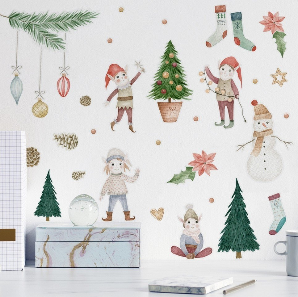 Christmas Elf Children's Wall Sticker