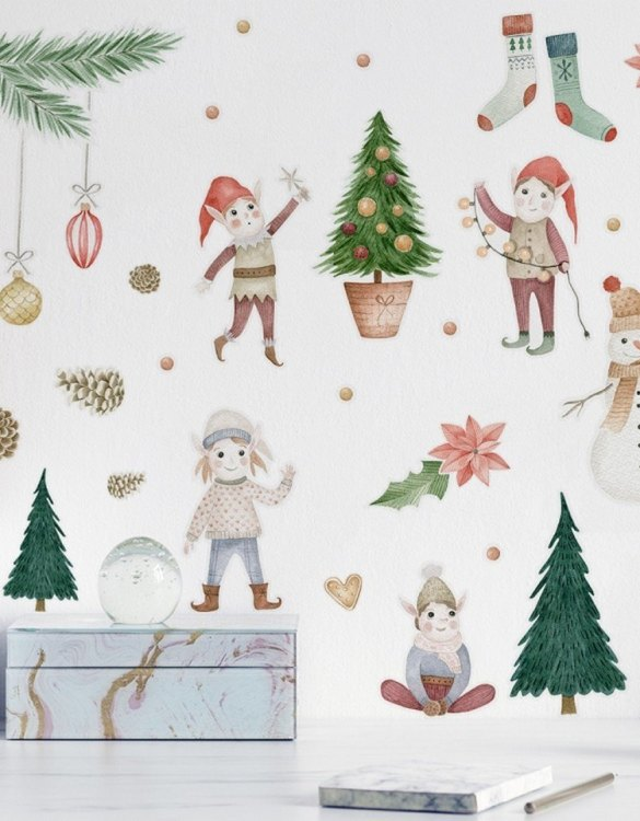 A beautiful scene for children's rooms and nurseries, the Christmas Elf Children's Wall Sticker is the perfect addition to any empty space (like walls or furniture). These wall stickers provide a flexible and cost-effective way to decorate your home.
