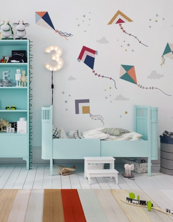 A beautiful scene for children's rooms and nurseries, the Colourful Kite Flying Children's Wall Sticker is the perfect addition to any empty space (like walls or furniture). These wall stickers provide a flexible and cost-effective way to decorate your home.