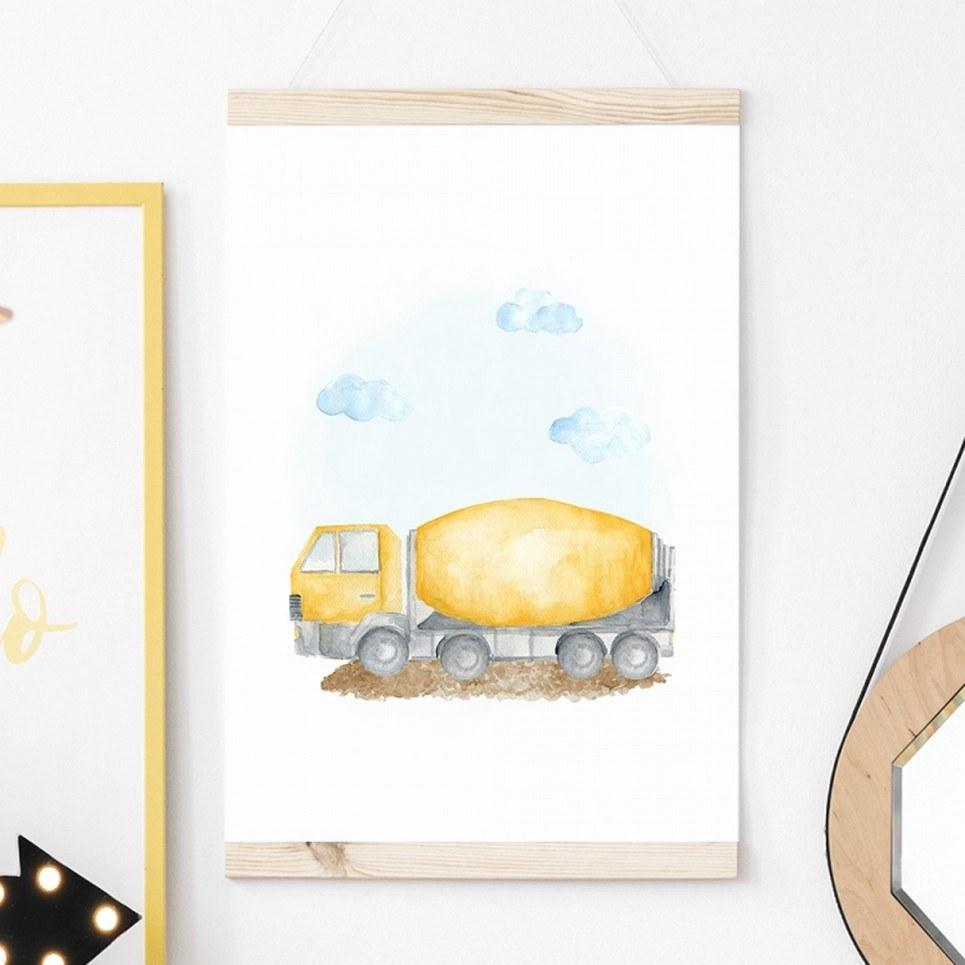 Concrete Machine Children's Poster