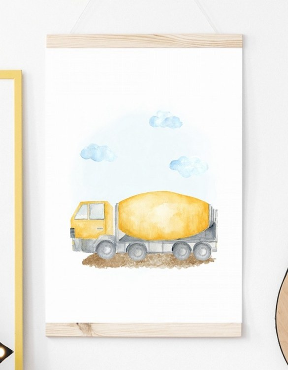 A unique keepsake that will create enchanting memories, the Concrete Machine Children's Poster is a really unique and eyecatching print that is loved by kids and adults. Encourage their wild side with this fun print. Designed in a playful font, they will make a great addition to any nursery, child's room, or playroom.