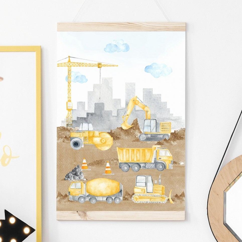 Construction Children's Poster