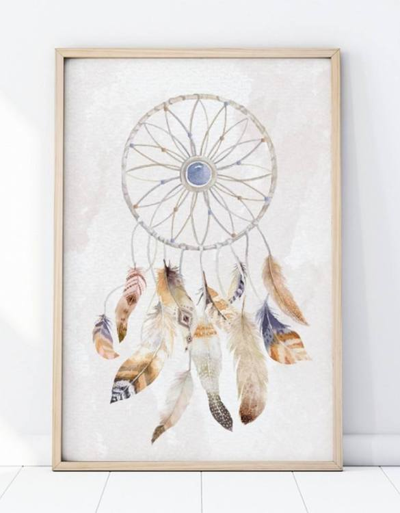 A unique keepsake that will create enchanting memories, the Dream Catcher Children's Poster is a really unique and eyecatching print that is loved by kids and adults. Encourage their wild side with this fun print. Designed in a playful font, they will make a great addition to any nursery, child's room, or playroom.