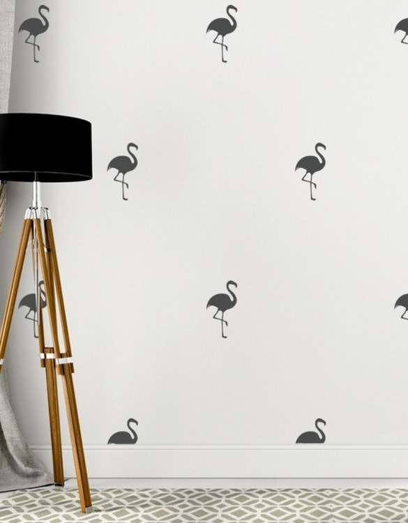 A beautiful scene for children's rooms and nurseries, the Flamings Children's Wall Sticker is the perfect addition to any empty space (like walls or furniture). These wall stickers provide a flexible and cost-effective way to decorate your home.