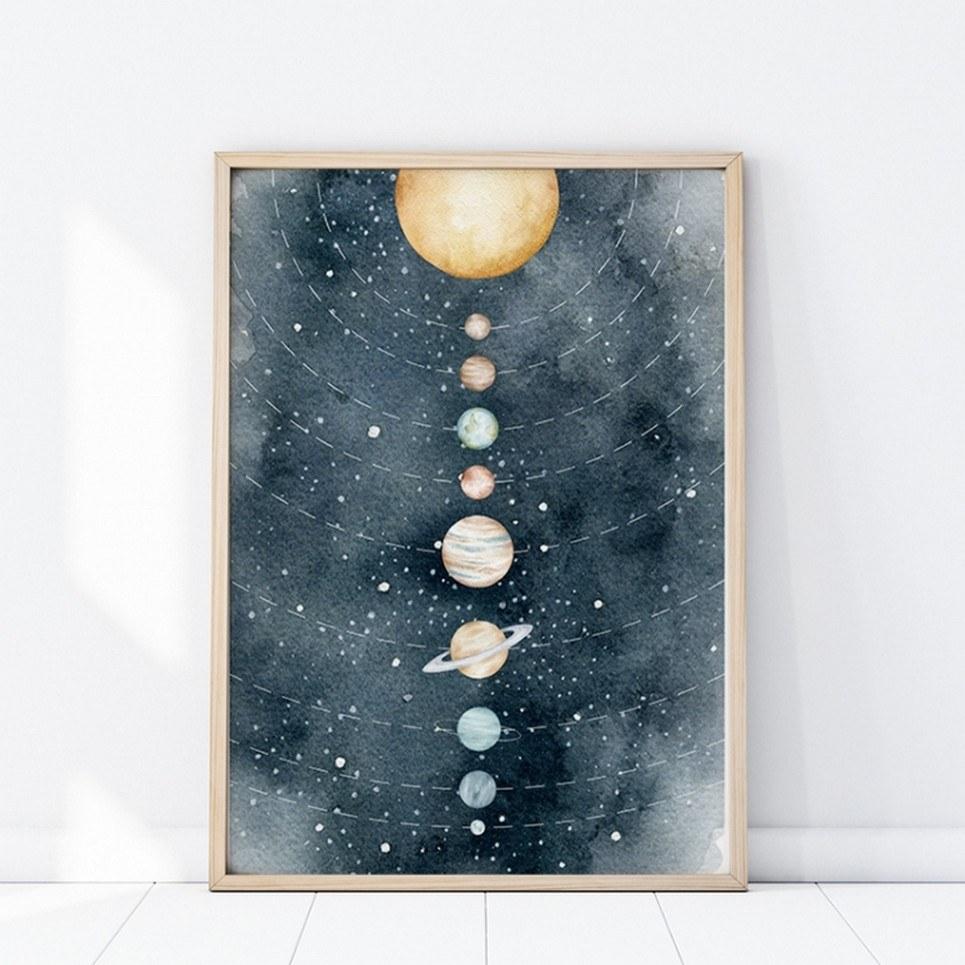 Galaxy Children's Poster