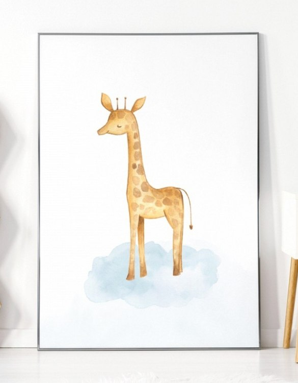 A unique keepsake that will create enchanting memories, the Giraffe Children's Poster is a really unique and eyecatching print that is loved by kids and adults. Encourage their wild side with this fun print. Designed in a playful font, they will make a great addition to any nursery, child's room, or playroom.