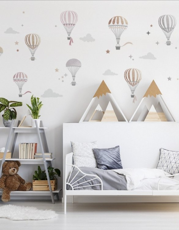 A beautiful scene for children's rooms and nurseries, the Hot Air Balloon Children's Wall Sticker is the perfect addition to any empty space (like walls or furniture). These wall stickers provide a flexible and cost-effective way to decorate your home.