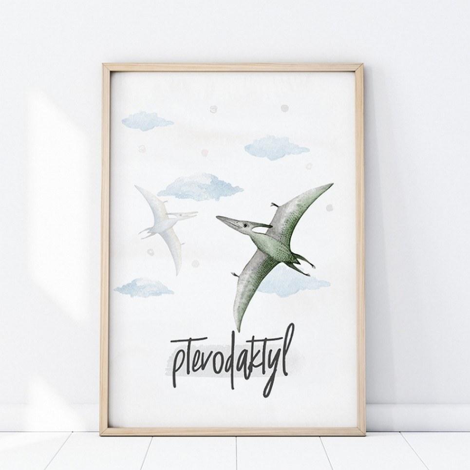 Pterodaktyl Children's Poster