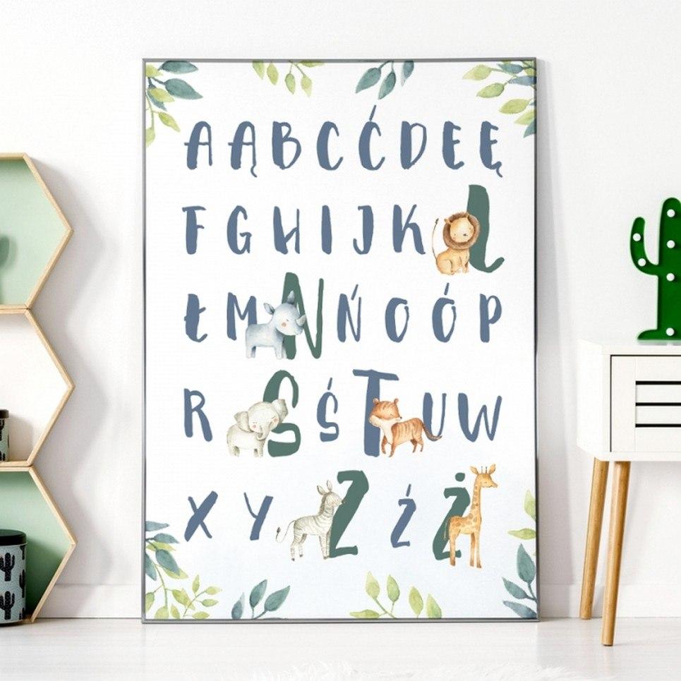 Safari Alphabet Children's Poster