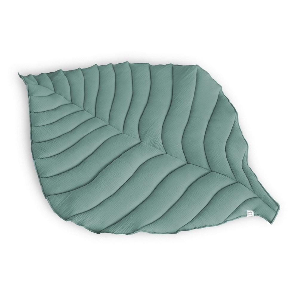 Sage Green Leaf Play Mat