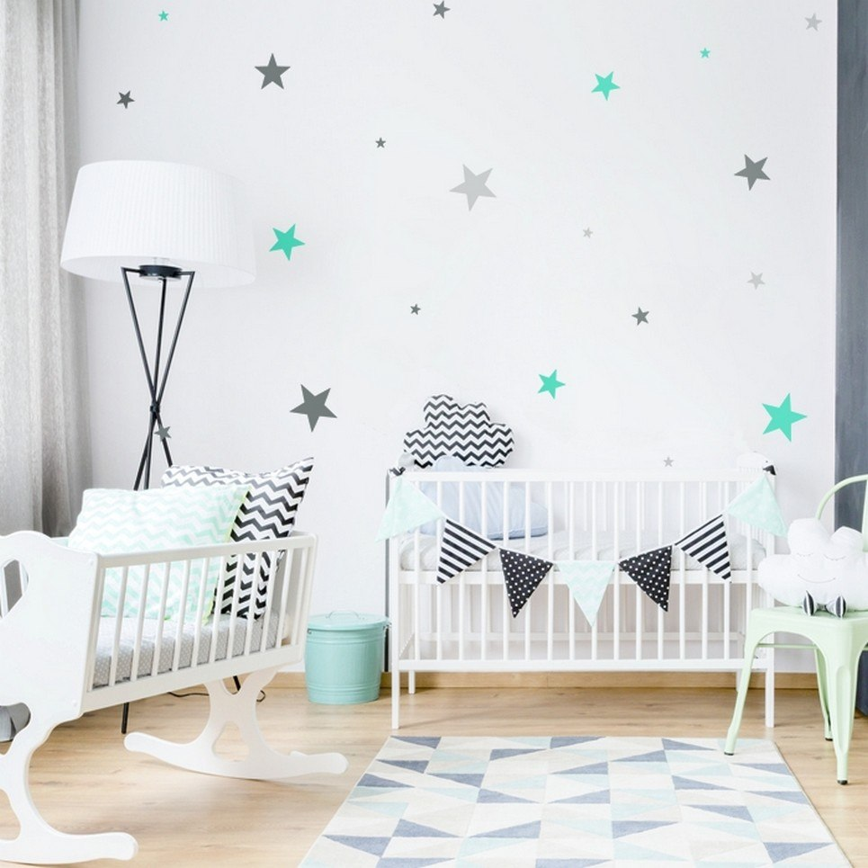 Stars 3 Colours Children's Wall Sticker