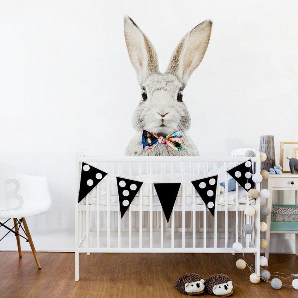 Stefan Rabbit With a Bow Children's Wall Sticker