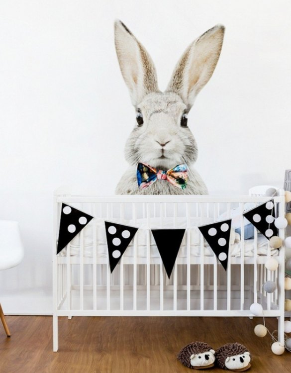A beautiful scene for children's rooms and nurseries, the Stefan Rabbit With a Bow Children's Wall Sticker is the perfect addition to any empty space (like walls or furniture). These wall stickers provide a flexible and cost-effective way to decorate your home.
