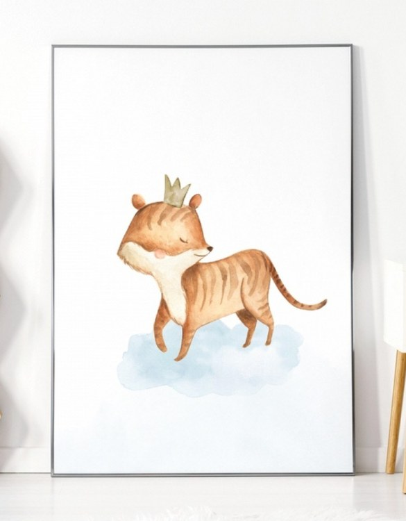 A unique keepsake that will create enchanting memories, the Tiger Children's Poster is a really unique and eyecatching print that is loved by kids and adults. Encourage their wild side with this fun print. Designed in a playful font, they will make a great addition to any nursery, child's room, or playroom.