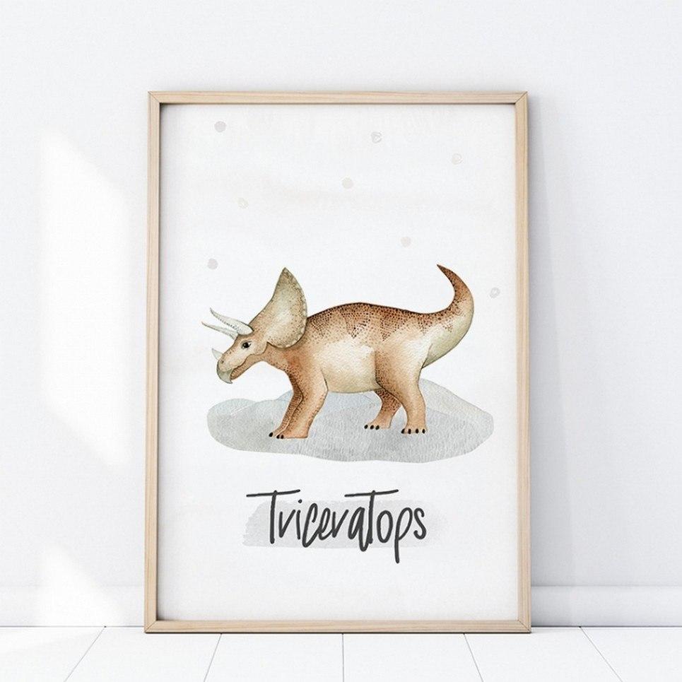 Triceratops Children's Poster