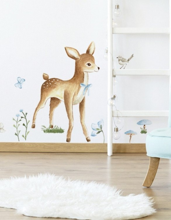 A beautiful scene for children's rooms and nurseries, the Adorable Deer Children's Wall Sticker is the perfect addition to any empty space (like walls or furniture). These wall stickers provide a flexible and cost-effective way to decorate your home.