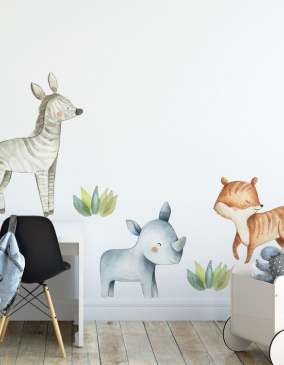 A beautiful scene for children's rooms and nurseries, the Animals Safari Children's Wall Sticker is the perfect addition to any empty space (like walls or furniture). These wall stickers provide a flexible and cost-effective way to decorate your home.