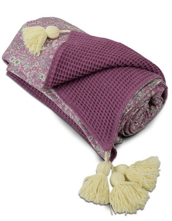 A perfect keepsake, the Blueberry Flowers Soft Baby Blanket will keep your precious little one warm and snug. This soft baby blanket is ideal for prams, cots and makes a lovely bedroom accessory for many years to come.