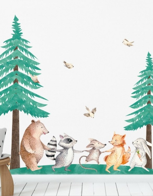 A beautiful scene for children's rooms and nurseries, the Christmas Trees - Set of 2 Children's Wall Sticker is the perfect addition to any empty space (like walls or furniture). These wall stickers provide a flexible and cost-effective way to decorate your home.