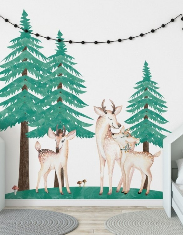 A beautiful scene for children's rooms and nurseries, the Christmas Trees - Set of 3 Children's Wall Sticker is the perfect addition to any empty space (like walls or furniture). These wall stickers provide a flexible and cost-effective way to decorate your home.