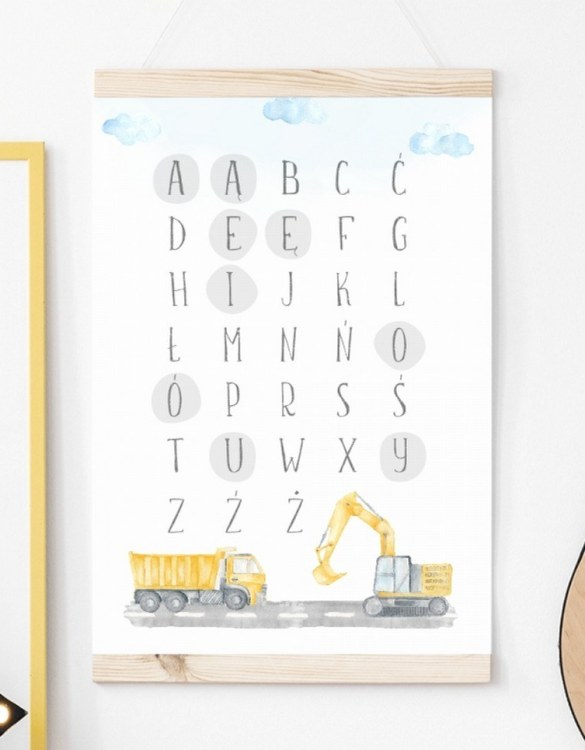A unique keepsake that will create enchanting memories, the Construction Alphabet Children's Poster is a really unique and eyecatching print that is loved by kids and adults. Encourage their wild side with this fun print. Designed in a playful font, they will make a great addition to any nursery, child's room, or playroom.