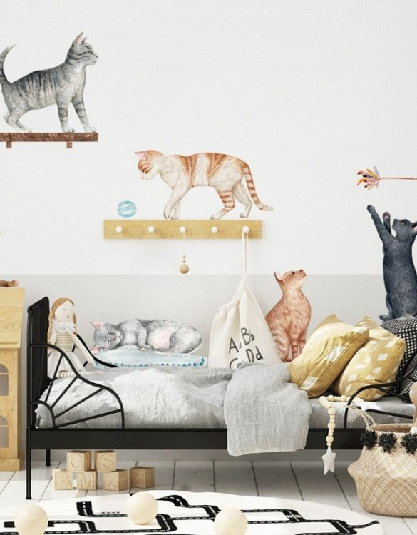 A beautiful scene for children's rooms and nurseries, the Cute Cats Children's Wall Sticker is the perfect addition to any empty space (like walls or furniture). These wall stickers provide a flexible and cost-effective way to decorate your home.