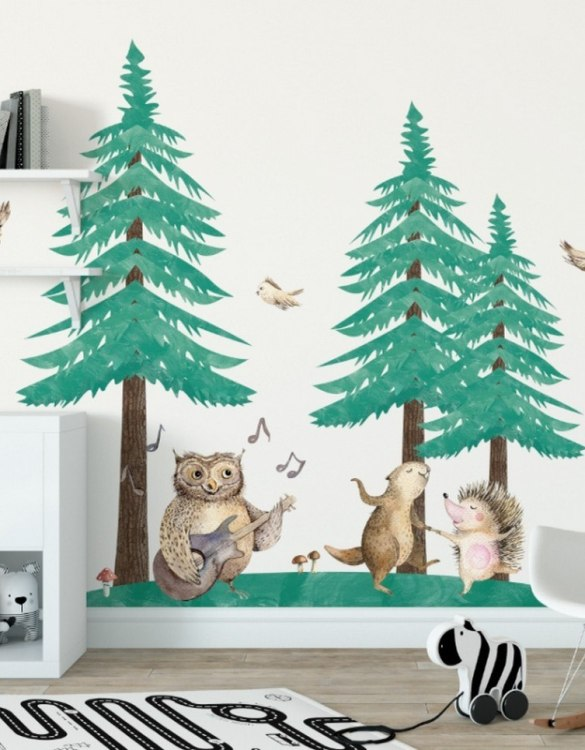 A beautiful scene for children's rooms and nurseries, the Forest Chapel Children's Wall Sticker is the perfect addition to any empty space (like walls or furniture). These wall stickers provide a flexible and cost-effective way to decorate your home.