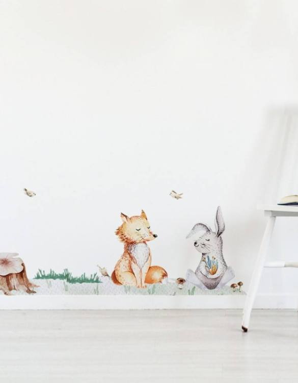 A beautiful scene for children's rooms and nurseries, the Forest Grass Children's Wall Sticker is the perfect addition to any empty space (like walls or furniture). These wall stickers provide a flexible and cost-effective way to decorate your home.