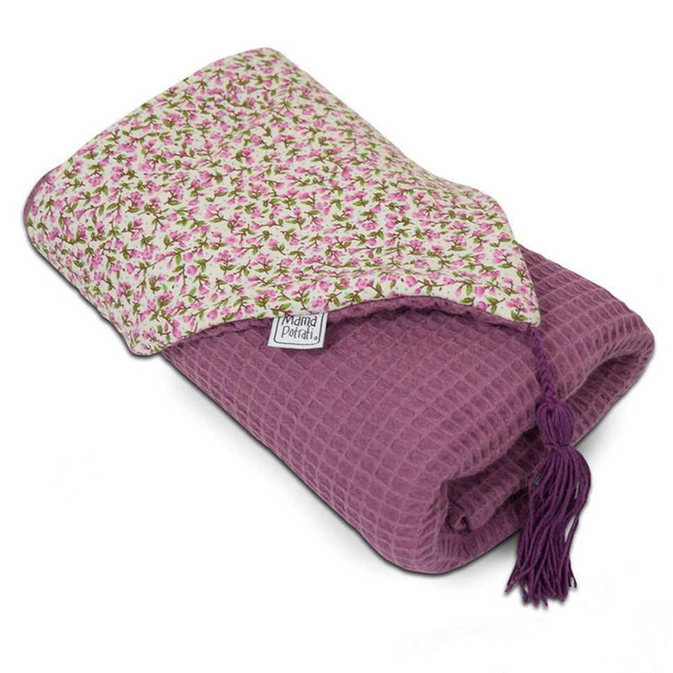 Hooded Towel Blueberry Flowers
