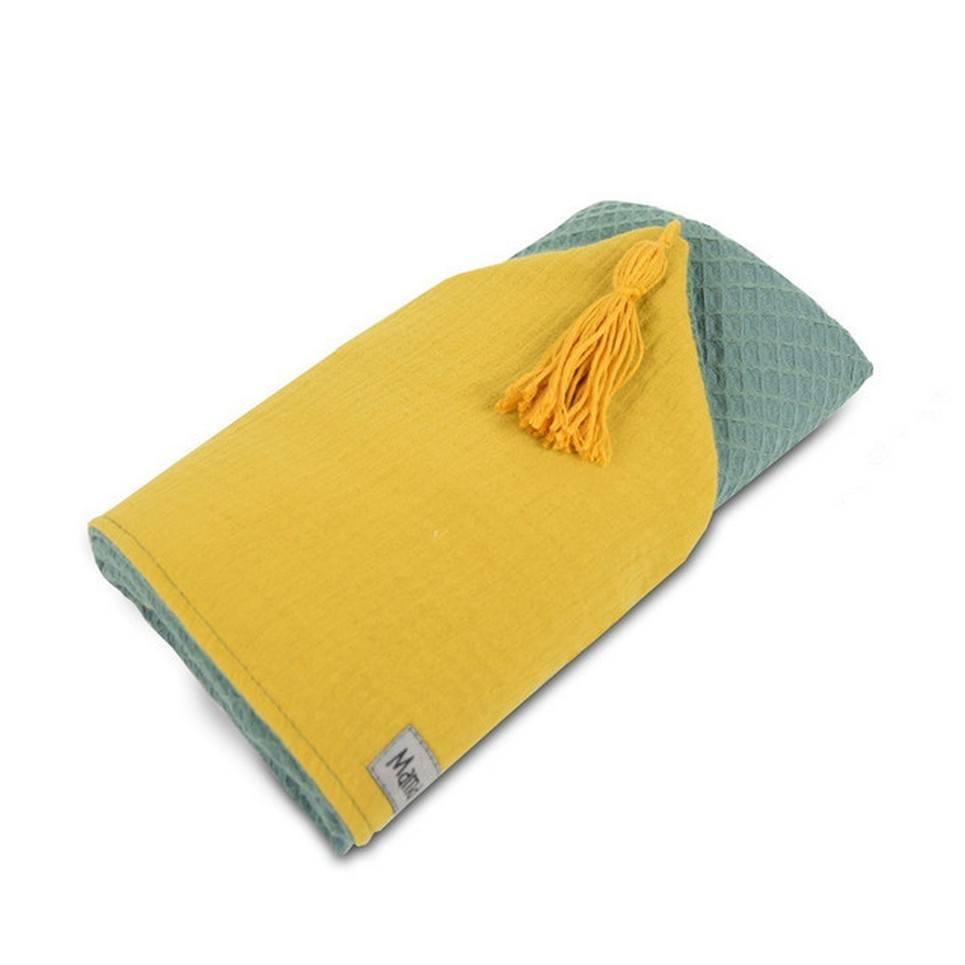 Hooded Towel Sage Green & Mustard