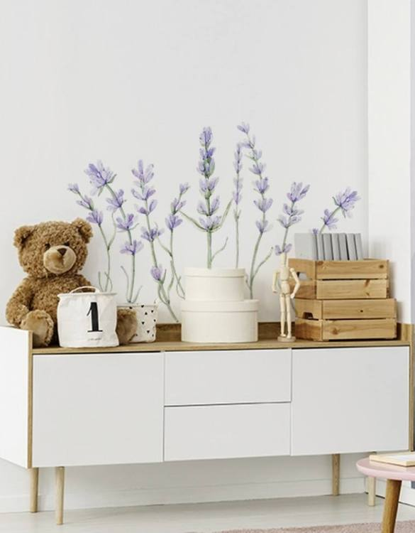 A beautiful scene for children's rooms and nurseries, the Lavender Children's Wall Sticker is the perfect addition to any empty space (like walls or furniture). These wall stickers provide a flexible and cost-effective way to decorate your home.
