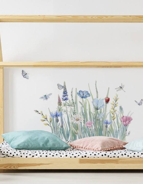 A beautiful scene for children's rooms and nurseries, the Meadow Children's Wall Sticker is the perfect addition to any empty space (like walls or furniture). These wall stickers provide a flexible and cost-effective way to decorate your home.