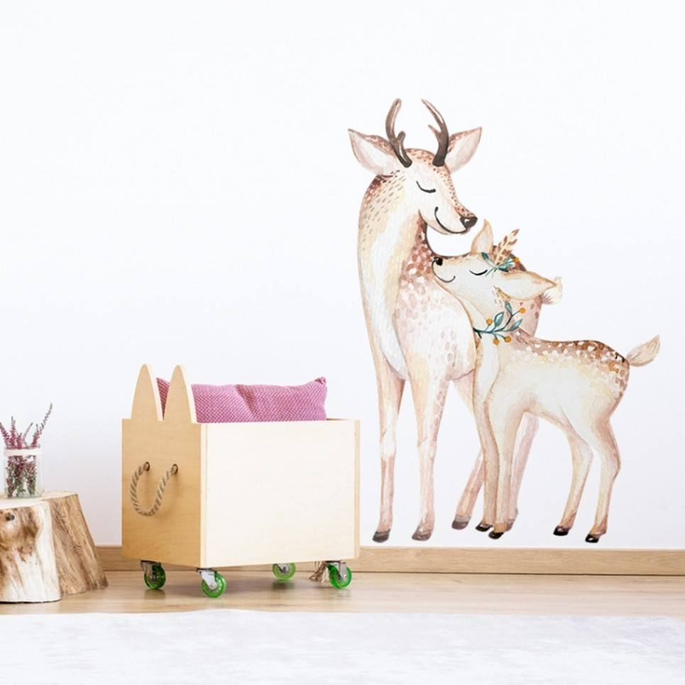 Mom and Baby Deer Children's Wall Sticker