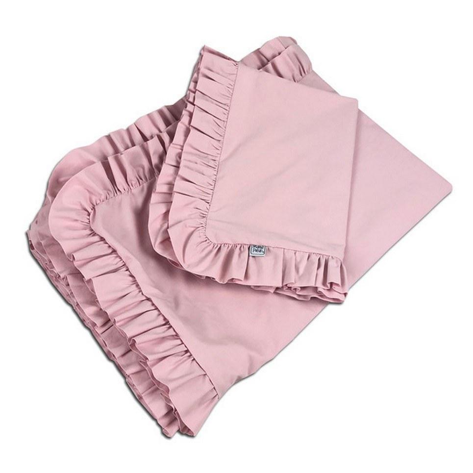 Ruffle Bedding Set Powder Pink
