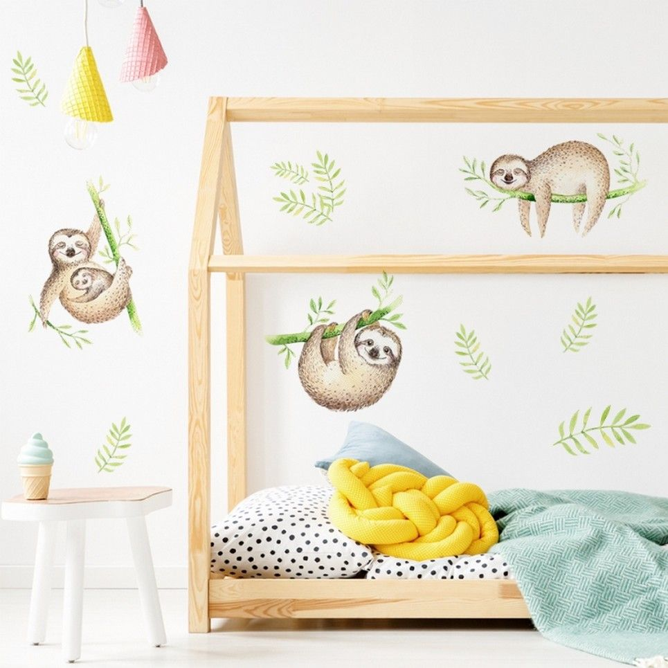 Sloth Children's Wall Sticker