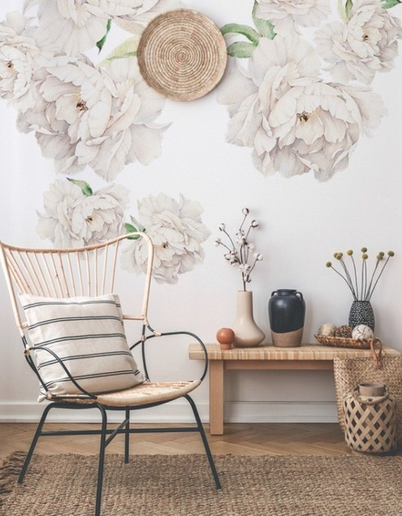 A beautiful scene for children's rooms and nurseries, the White Peony Children's Wall Sticker is the perfect addition to any empty space (like walls or furniture). These wall stickers provide a flexible and cost-effective way to decorate your home.