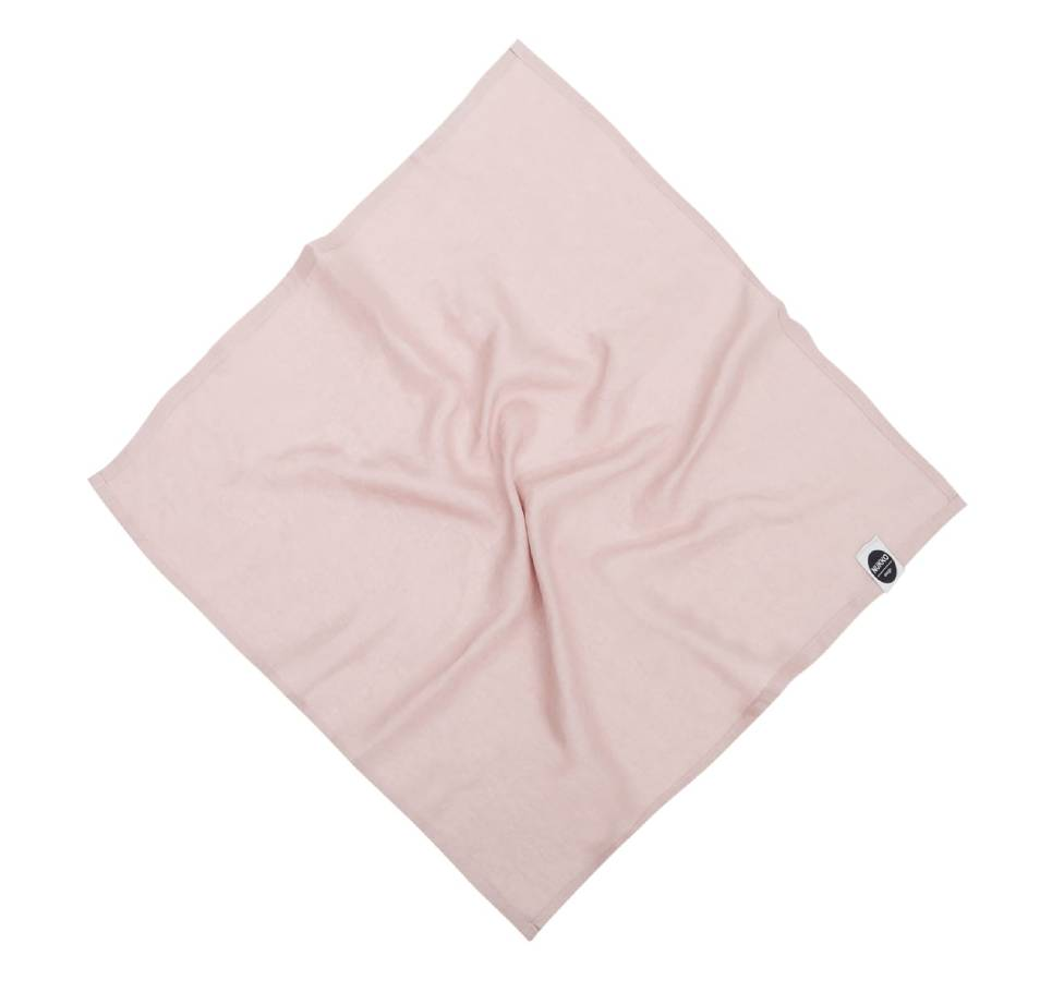 Dusty Pink Linen Baby Swaddle