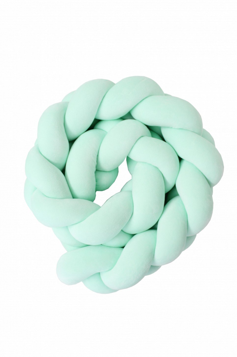 Mint Braided Crib Protector