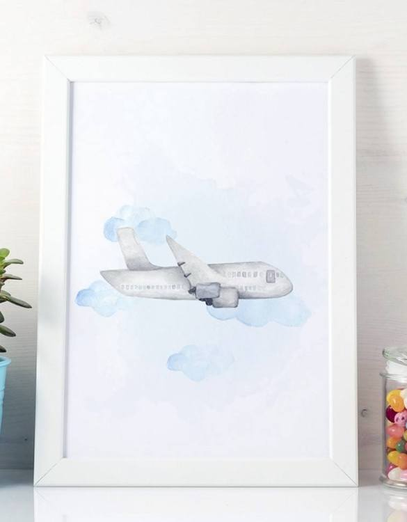 A unique keepsake that will create enchanting memories, the Plane Children's Poster is a really unique and eyecatching print that is loved by kids and adults. Encourage their wild side with this fun print. Designed in a playful font, they will make a great addition to any nursery, child's room, or playroom.