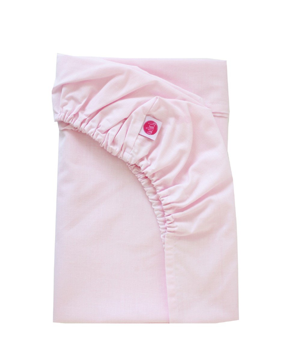 Bright Pink Fitted Crib Sheet