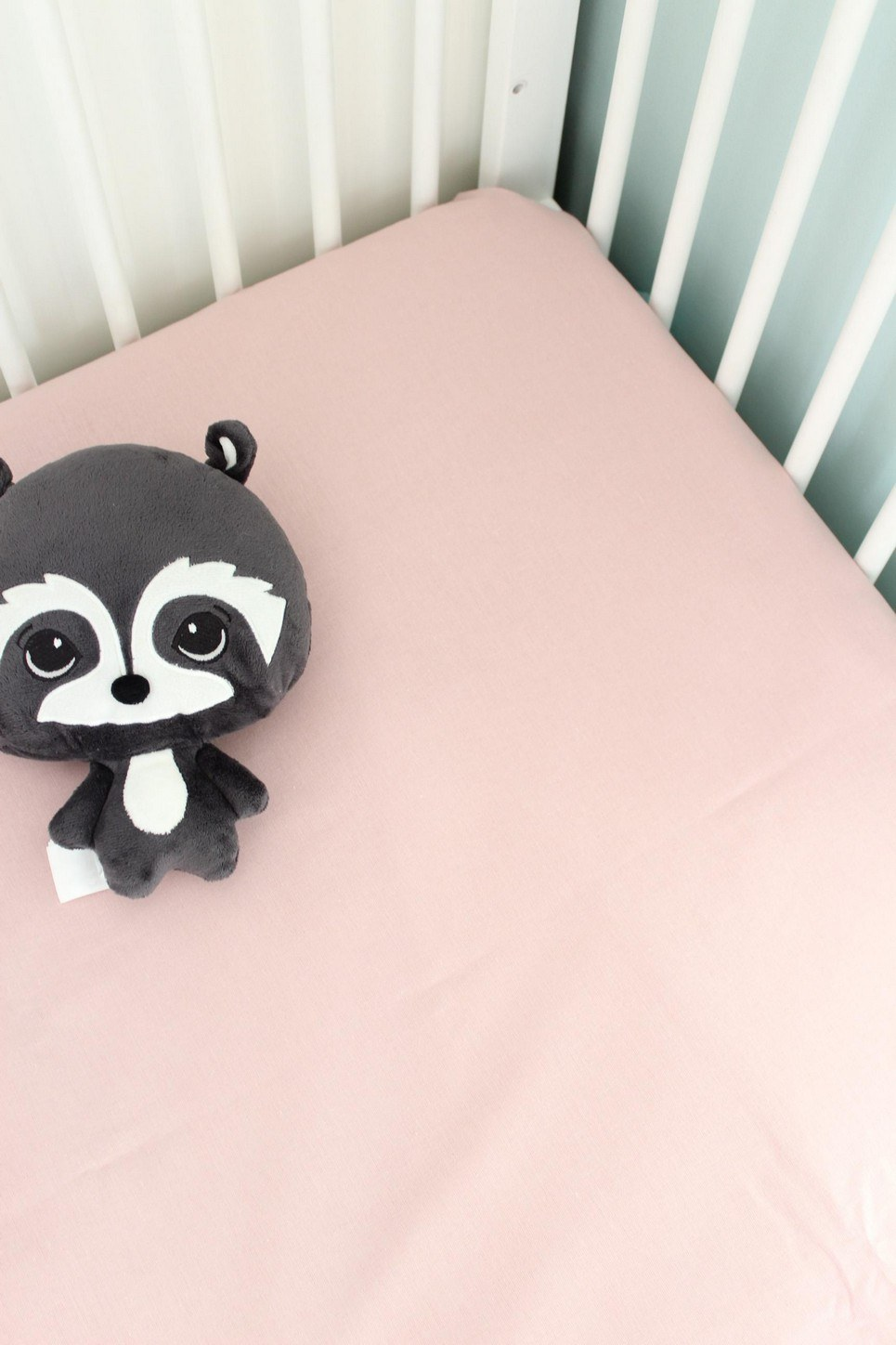 Dirty Pink Fitted Crib Sheet