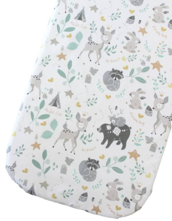 Perfect as a gender-neutral choice, the Fawn Fitted Crib Sheet will fit any crib bed or next to me pods. This fitted cot sheet is a perfect addition to spruce up your little bub's nursery.
