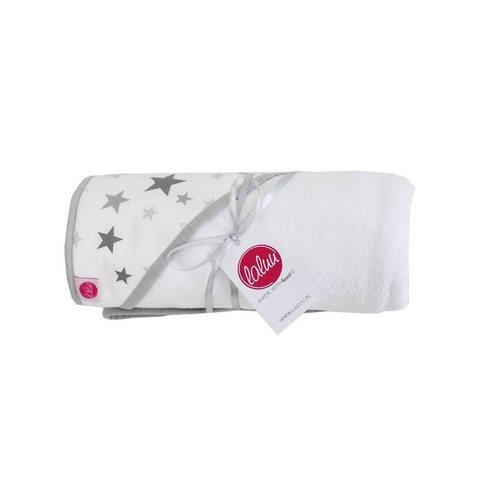 Gray Stars Baby Bath Towel
