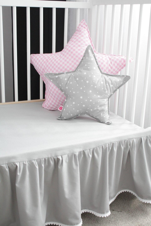 Grey Crib Bed Skirt