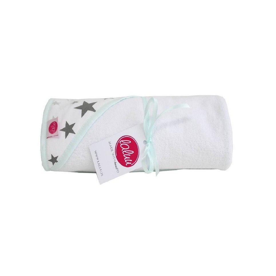 Mint Stars Baby Bath Towel