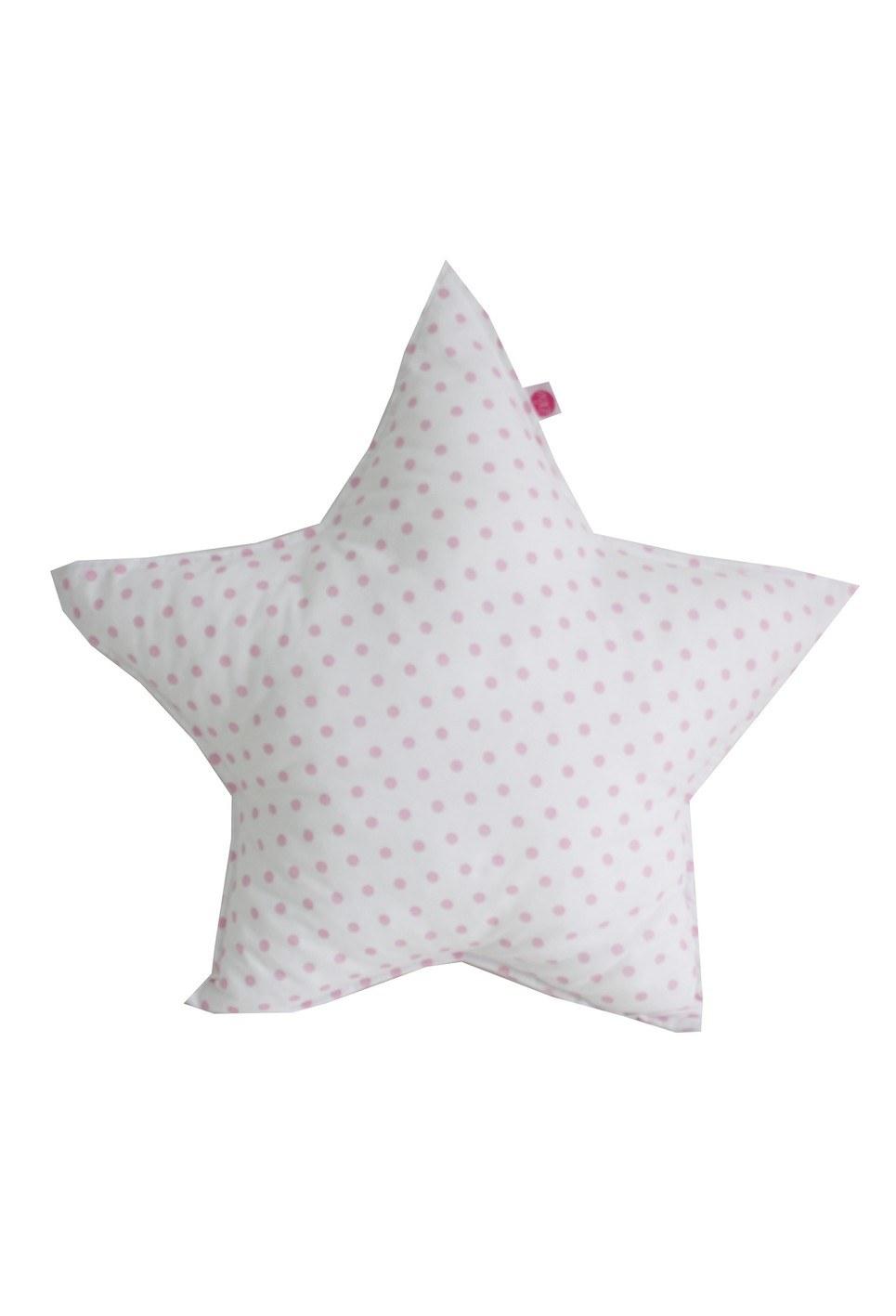 Pink Dots On Star Children's Cushion