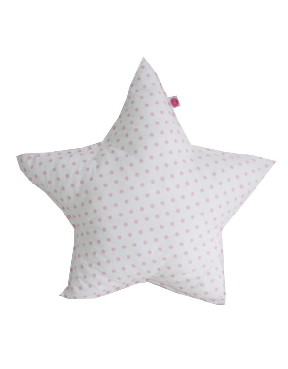 Perfect to bring the child inside everyone, the Pink Dots On Star Children's Cushion will add that pop of colour into any kid's bedroom or nursery!